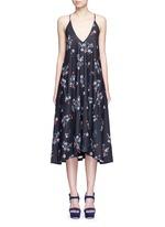 'Posie' floral print strappy midi dress