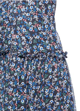 Detail View - Click To Enlarge - Nicholas - 'Posie' floral print halterneck tiered maxi dress