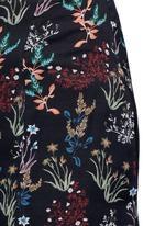 Garden floral print silk palazzo pants