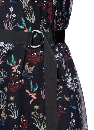 Detail View - Click To Enlarge - Nicholas - Garden floral print silk halter jumpsuit