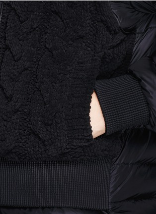 Detail View - Click To Enlarge - Moncler - 'KAYA' CABLE KNIT FRONT DOWN JACKET