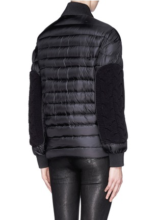 Back View - Click To Enlarge - Moncler - 'KAYA' CABLE KNIT FRONT DOWN JACKET