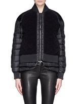 'Kaya' cable knit front down jacket