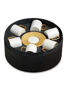 L'Objet Han espresso cup and saucer six-piece set