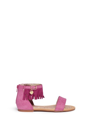 Main View - Click To Enlarge - Stuart Weitzman - 'Camia Anna' kids fringe sandals