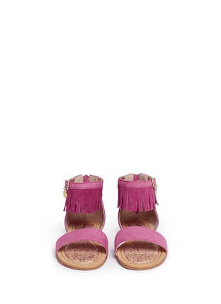 Figure View - Click To Enlarge - Stuart Weitzman - 'Camia Anna' kids fringe sandals