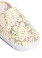 VANCE婴儿款花卉蕾丝平底鞋