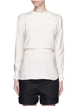 Isabel Marant - Sash tie asymmetric silk shirt top