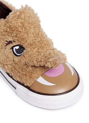 Detail View - Click To Enlarge - CONVERSE - 'Chuck Taylor Creatures Ox' mammoth faux fur toddler sneakers