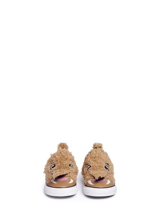 Figure View - Click To Enlarge - 90107 - 'Chuck Taylor Creatures Ox' mammoth faux fur toddler sneakers