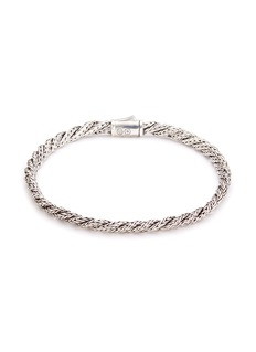 John Hardy Sapphire silver twist slim woven chain bracelet