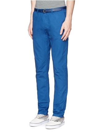 正面 -点击放大 - SCOTCH & SODA - 腰带缀饰纯棉斜纹布裤