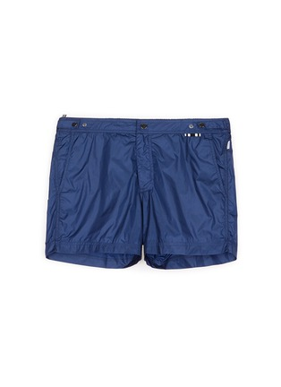 Main View - Click To Enlarge - DANWARD - Solid flat front elastic back swim shorts