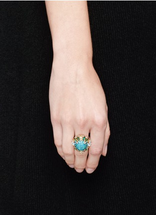 Figure View - Click To Enlarge - Anabela Chan - 'Opals Poseidon' topaz gemstone ring