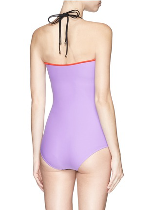 Back View - Click To Enlarge - Roksanda - Colourblock one-piece swimsuit