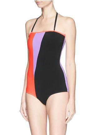 Figure View - Click To Enlarge - Roksanda - Colourblock one-piece swimsuit