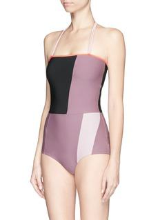 ROKSANDAColourblock one-piece swimsuit