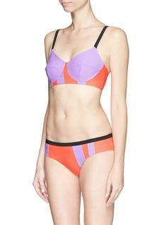 ROKSANDAColourblock stripe bikini briefs