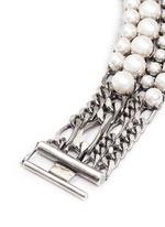 Glass pearl curb chain bracelet