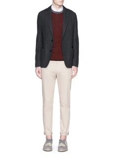 Armani CollezioniNotch lapel virgin wool-cashmere blazer