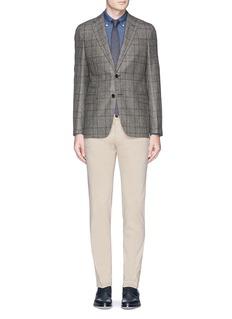 Armani Collezioni'Sartorial Deco' check virgin wool blazer