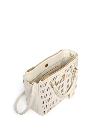 Detail View - Click To Enlarge - Tory Burch - 'Robinson' micro perforated saffiano leather tote