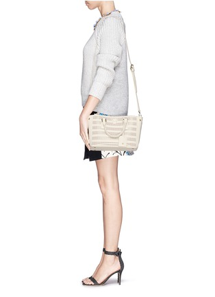 - Tory Burch - 'Robinson' micro perforated saffiano leather tote