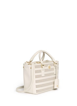 Front View - Click To Enlarge - Tory Burch - 'Robinson' micro perforated saffiano leather tote