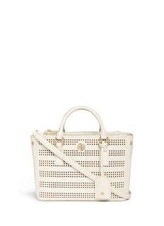 TORY BURCH 'Robinson' micro perforated saffiano leather tote