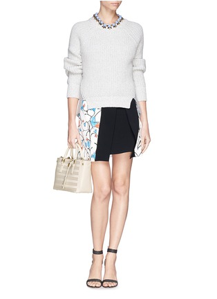 Figure View - Click To Enlarge - Tory Burch - 'Robinson' micro perforated saffiano leather tote