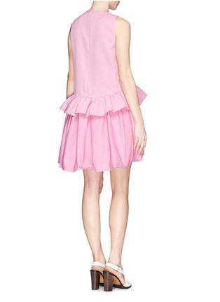 Back View - Click To Enlarge - VICTORIA, VICTORIA BECKHAM - Ruffle peplum drop waist dress