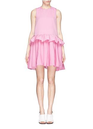 Main View - Click To Enlarge - VICTORIA, VICTORIA BECKHAM - Ruffle peplum drop waist dress