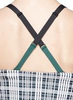Check plaid cross strap bandeau