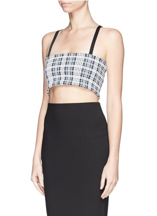 Front View - Click To Enlarge - TOGA ARCHIVES - Check plaid cross strap bandeau