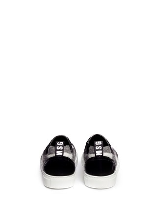 Back View - Click To Enlarge - MSGM - Macro Vichy' wool check skate slip-on
