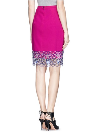 Back View - Click To Enlarge - Peter Pilotto - Circle lace hem pencil skirt