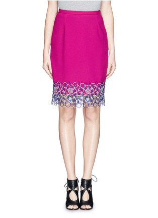 Main View - Click To Enlarge - Peter Pilotto - Circle lace hem pencil skirt