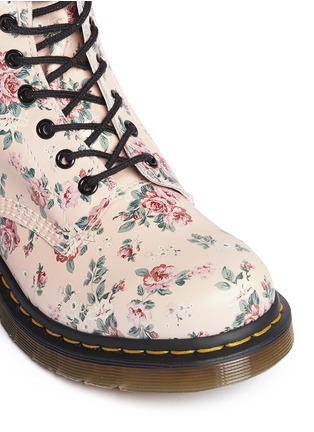 Detail View - Click To Enlarge - Dr. Martens - 1460 floral print lace-up leather boots