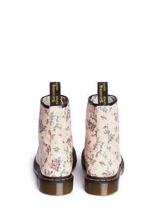 Back View - Click To Enlarge - Dr. Martens - 1460 floral print lace-up leather boots