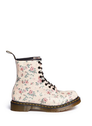 Main View - Click To Enlarge - Dr. Martens - 1460 floral print lace-up leather boots