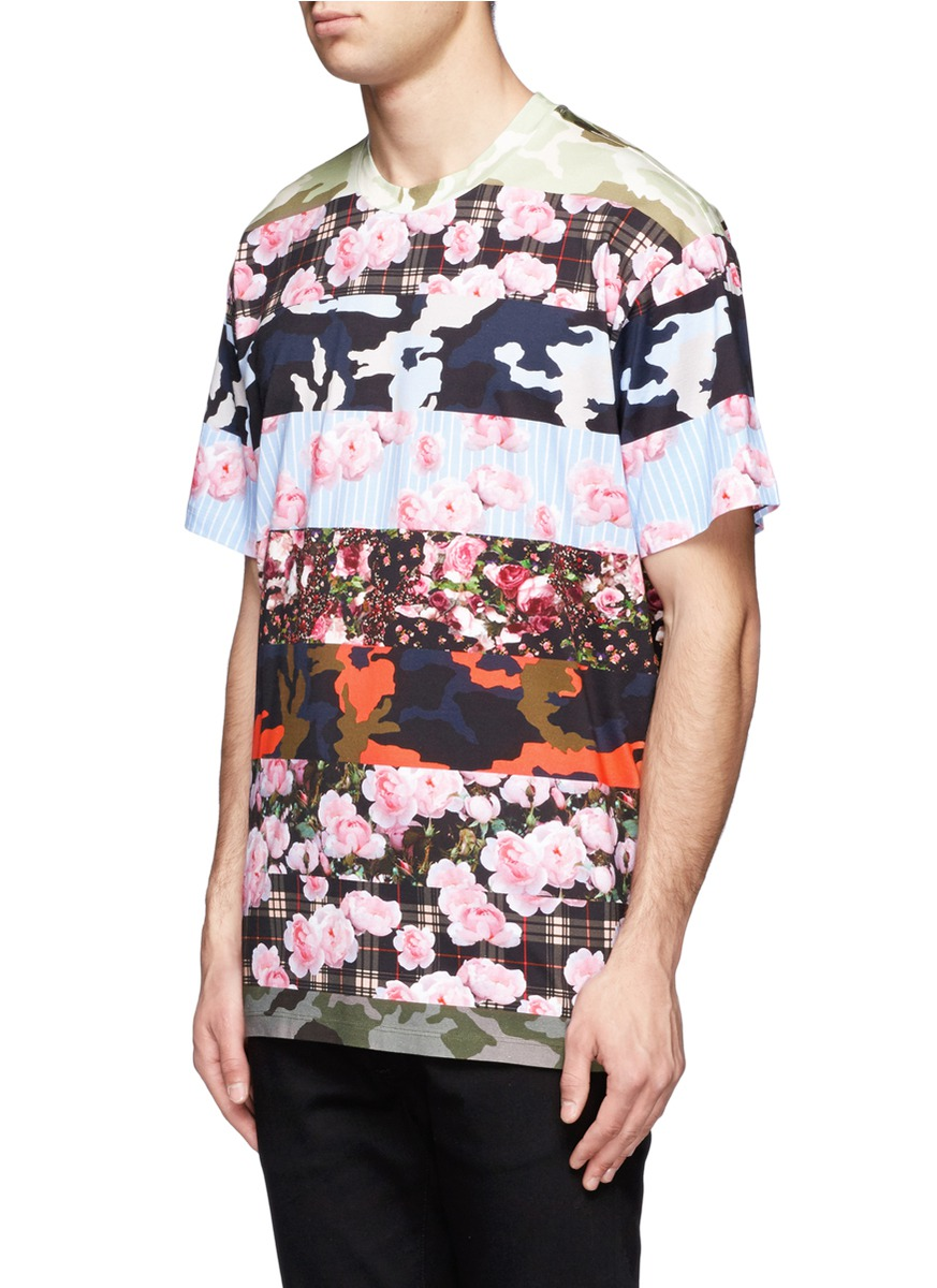 givenchy multi pattern cotton t shirt on sale multi colour short sleeves t shirts. Black Bedroom Furniture Sets. Home Design Ideas
