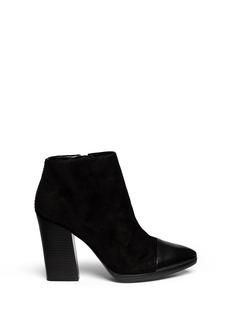 TORY BURCH'Rivington' leather toe cap suede booties