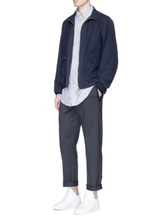 OAMC Windowpane ottoman panel blouson jacket