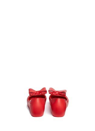 Back View - Click To Enlarge - Melissa - x Disney 'Ultragirl Minnie III' polka dot bow kids flats