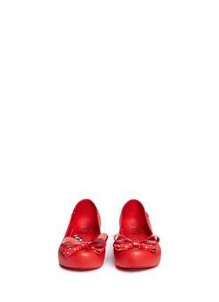 Figure View - Click To Enlarge - Melissa - x Disney 'Ultragirl Minnie III' polka dot bow kids flats