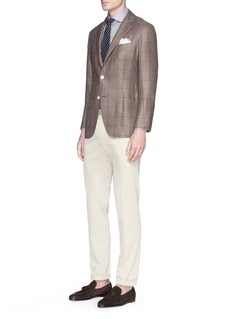 Tomorrowland Check silk-cashmere soft blazer