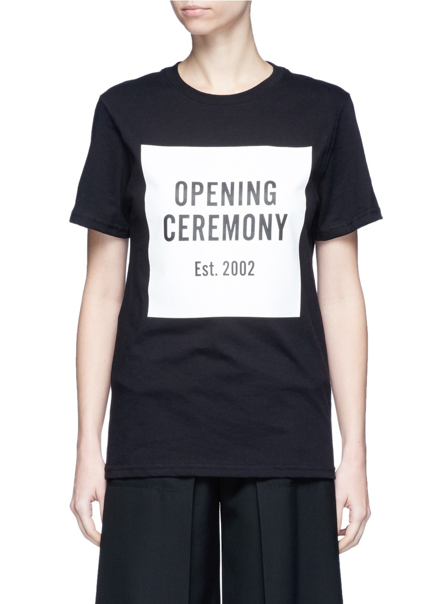 OC mirrored logo T-shirt by Opening Ceremony