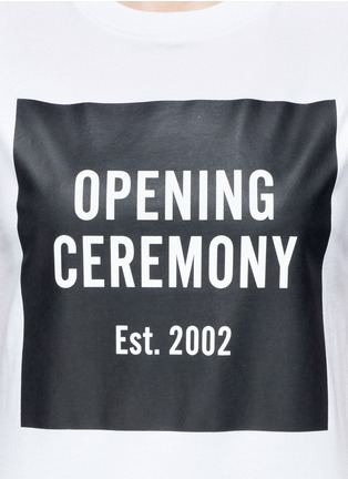 Detail View - Click To Enlarge - Opening Ceremony - 'OC' mirrored logo T-shirt