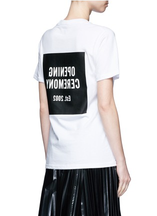 Back View - Click To Enlarge - Opening Ceremony - 'OC' mirrored logo T-shirt
