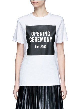 Main View - Click To Enlarge - Opening Ceremony - 'OC' mirrored logo T-shirt